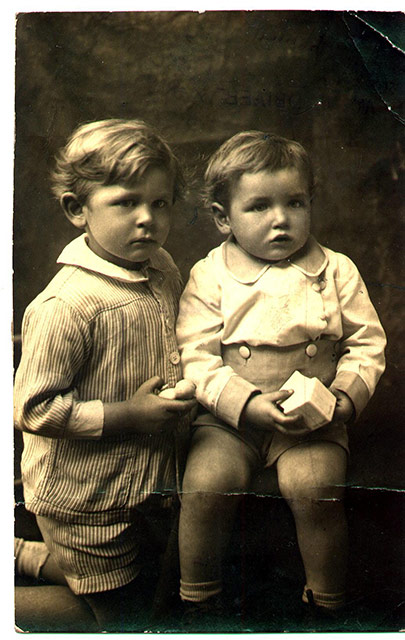 Norman and Arnold as babies